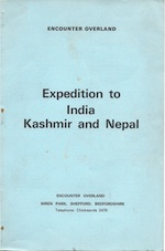 Brochure 1969 Expedition to India Kashmir and Nepal