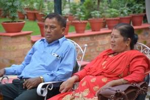 Shiva Ram Bogati (Houston) and Bishn Maya Bogati (Didi)