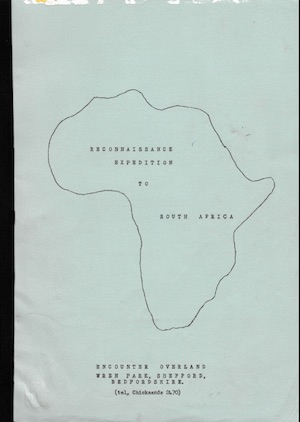 Icon First Africa Reconnaissance Trip 1969 - Brochure