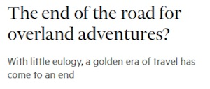 Icon 'The end of the road'