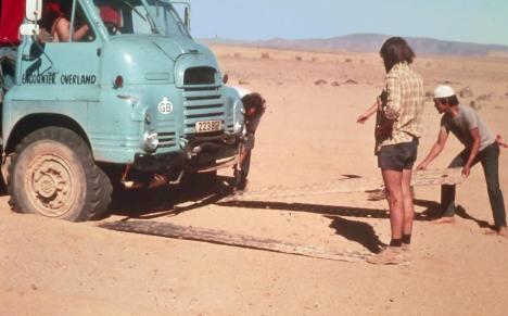 223BGF South of In Salah December 1976 (Bob Arnold driving)