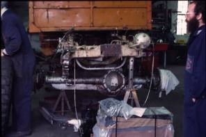 AOR622J being rebuilt Wren Park 1984 (Lance Thomas)