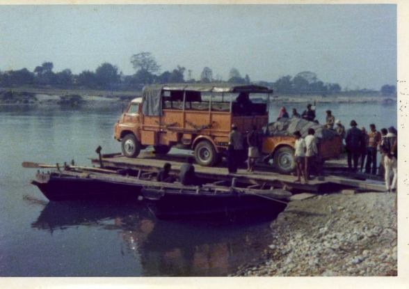 DHV541H - first EO truck to visit Royal Chitwan National Park, Nepal 1978 (Tom Colville)