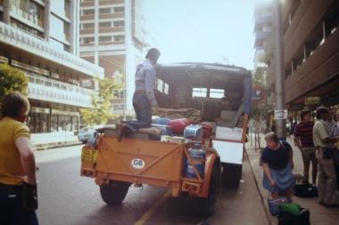 GLP203J - Africa Northbound 1977 (5) - Departure Johannesburg - Leader Derek Biddle