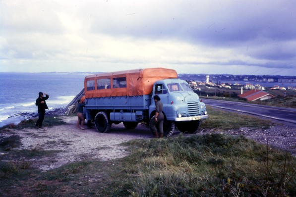 TMJ151K - Africa Southbound September 1971 Near San Sebastian (Spain), Tony Jones driving (by David Hardham)