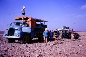 TMJ151K - Africa Southbound September 1971 -Tademait plateau, Sahara desert (by David Hardham)