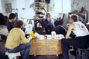 Wren Park (4) - 1975 - Bryan Wallace, Al Townsing, Keith Miller, Martin Crabb - Derek Biddle behind Camera