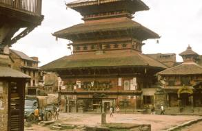 YNK229F (possibly) parked in Bhaktapur 1969 (Robert Summers (EM))