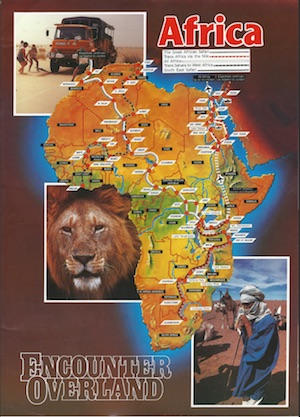 Icon Africa routes poster