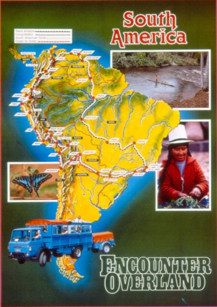 South America poster (circa 1980) (David Hunter)