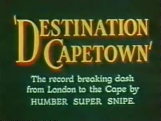 Icon Destination Cape Town 1952