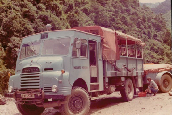 RXP586. Photo taken on Kathmandu - London expedition (24 August 1976 departure) Driver Phil Colbert (EM Christine Roberts)