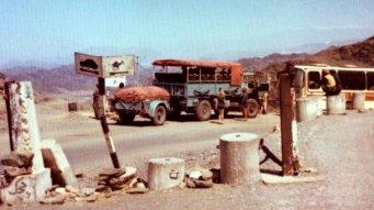 LUR975P Kathmandu-London May 1976 (driver Ian Way) (EM Graeme Wykes) with Penn Overland coach