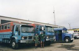 Geoff Spillet (left) and Richard Dear (right). Photo taken on the bday Encounter Overland ceased operations.