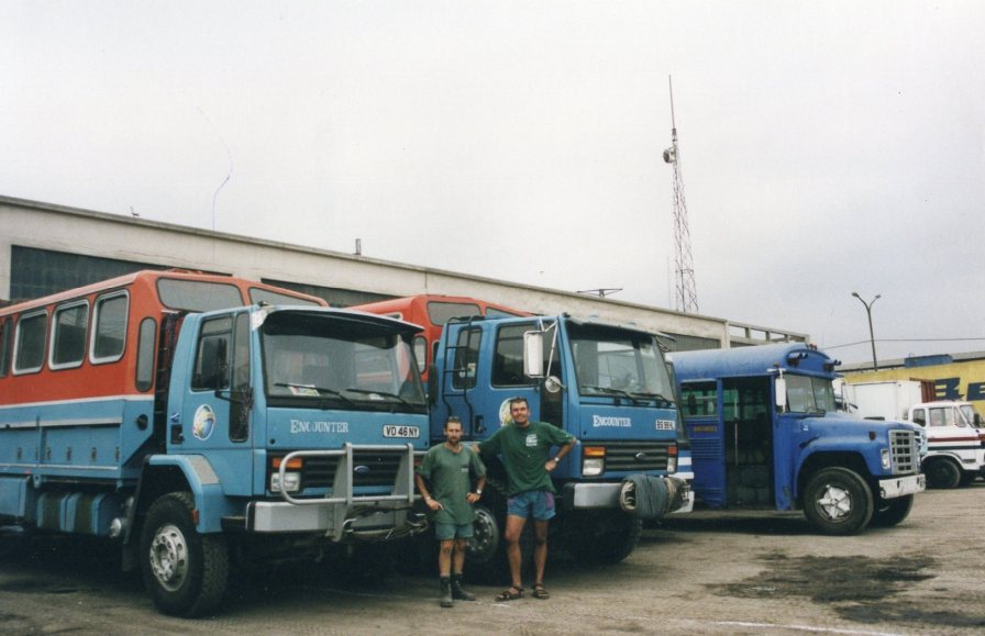 Geoff Spillet (left) and Richard Dear (right). Photo taken on the day Encounter Overland ceased operations.