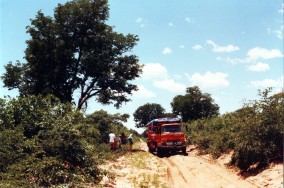 Q124MPP Enroute to Savuti Botswana, 1990 (Ian Richards)