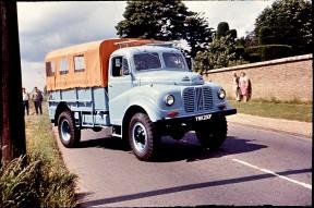 YNK230F on road outside Wren Park 1968