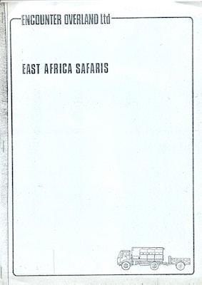 Icon East Africa Safaris Brochure 1977