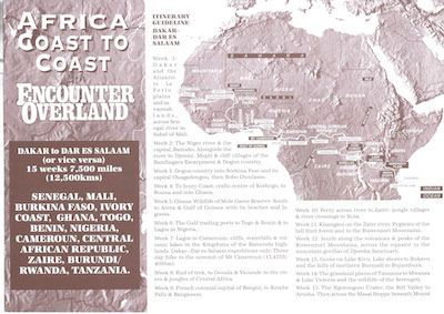 Icon Project Dossier Africa Coast to Coast 1994