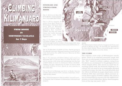 Icon Project Dossier Climbing Kilimanjaro 1994