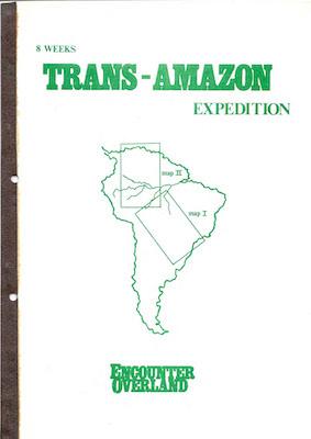 Icon Trans Amazon Expedition Brochure 1981