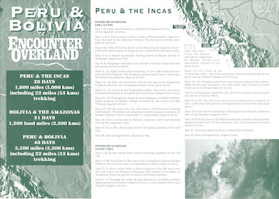 Icon Project Dossier Peru and Bolivia 1994