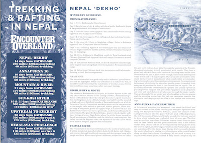 Icon Project Dossier Trekking and Rafting in Nepal 1994