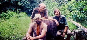 First Darien Gap Autumn 1982. Neal Inwood (rear left), Jerry Creamer (right), Tony Jones (front left)