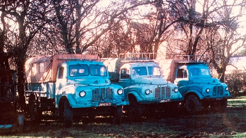 JNM668F, JNM667F and YNK229F at Wren Park 1968 (Tony Jones)