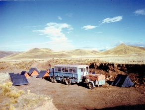 WBH648S Camping on the way to Puno - First Brief Encounter Peru and Incas late 1982 (Tony Simmons)